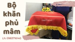 Bộ khăn phủ mâm trao giải – khăn phủ khay trao thưởng